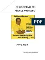 Plan de Gobierno Municipal - Monsefu 2018- Solidaridad Nacional - Erwin Huertas