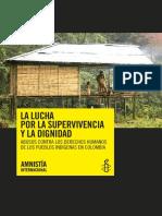 Colombia Supervivencia Pueblos Indigenas