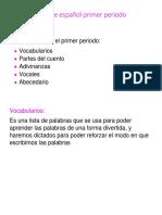 Guía de Español Primer Periodo