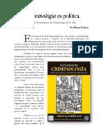 BAILONE Toda Criminologia Es Politica