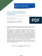 Georges-Pierre Tonnelier défend la Convention Européenne de Sauvegarde des Droits de l'Homme