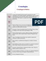 Historia de Bolivia Cronologia