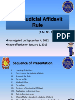 The Judicial Affidavit Rule