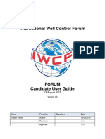 FORUM Candidate User Guide 1 3
