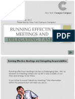 Effective Meetings and Delegating