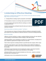 10 Conducting an Effective Meeting