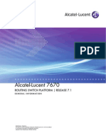 Alcatel Lucent 7670 Routing Switch Platform General Information Release 7.1