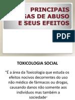 Drogas de abuso e seus efeitos