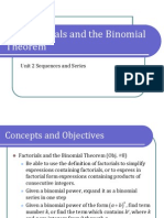2-3 Factorials and the Binomial Theorem (Presentation)