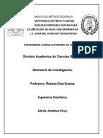 Empleo Del Método Geofísico Resistividad Eléctrica y Cartas Geológicas e Hidrogeológicas Para La Ubicación de Agua Subterránea en La Zona Del Istmo de Tehuantepec