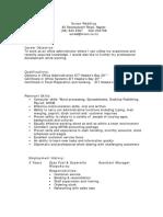 CV - Example 1