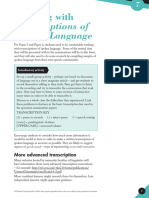 Working With Transcriptions of Spoken Language