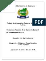 Anexion de La Capitania General de Guatemala a Mexico.