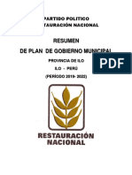 Resumen de Plan de Gobierno-2019-2022-Ilo