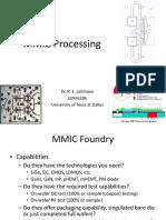 MMIC Design, Part 2 - Processing