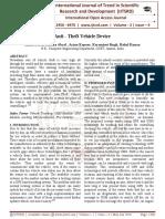 Anti - Theft Vehicle Device