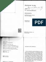 Wahl, Qué es el estructuralismo.pdf