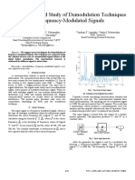 Development and Study of Demodulation Techniques for Frequency-Modulated Signals