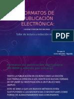 Formatos de Publicación Electrónica