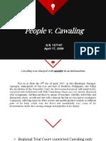 Section 22 Rule 114 - People v. Cawaling - Dela Cerna