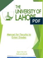 Teacher Grading Manual for Fiori SLcM