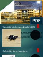 Transistores de unión bipolar.