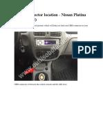 OBD2 connector location - Nissan Platina 1999 - 2008