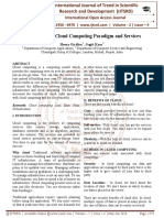 An Insight into Cloud Computing Paradigm and Services