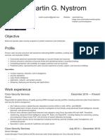 Resume for Martin G. Nystrom (1)
