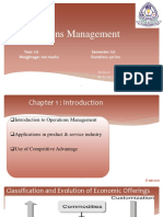 Chapter 1 - Operations Management