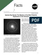 Gamma Ray Bursts NASA Facts