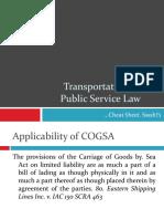 Transportation & Public Service Law - Bare Basics