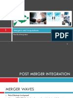 Integration in mergers and acquisitions