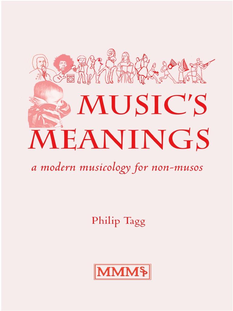 Music's Meanings Philip Tagg | Harmony | Semiotics