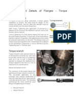 Definition and Details of Flanges Torque Tightening