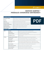 Surpac Modules Overview Geovia Datasheet 6.8