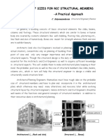 Presumption of Sizes for building design