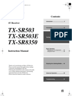 Onkyo TX-SR503 Manual