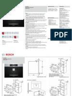 Bosch CTL636ES1 Coffee Machine Specifications Sheet