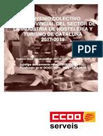 Convenio Colectivo Interprovincial Del Sector de La Industria de Hostelería y Turismo de Cataluña