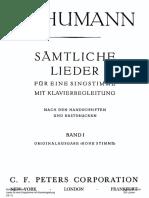 Schumann Lieder Contents