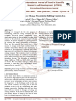 Significance of Phase Change Materials in Building Construction