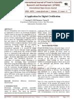 Decentralized Application for Digital Certification