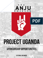 Project Uganda Sponsorship Brochure