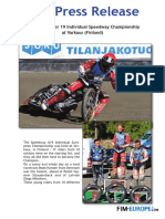 PR 227 2018 European Under 19 Individual Speedway Cup at Varkaus Finland