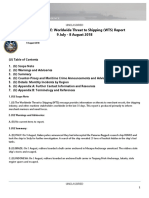 U. S. Navy Office of Naval Intelligence Worldwide Threat to Shipping (WTS) Report 9 July - 8 August 2018