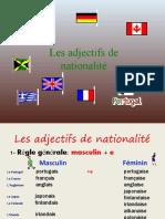 Adjectifs National It Power Point