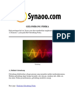 Rangkuman Materi GELOMBANG FISIKA PDF by Synaoo.com