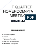 First Quarter Homeroom-pta Meeting Ppt