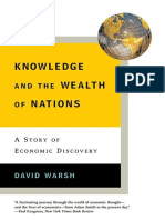 David Warsh Knowledge and the Wealth of Nations
